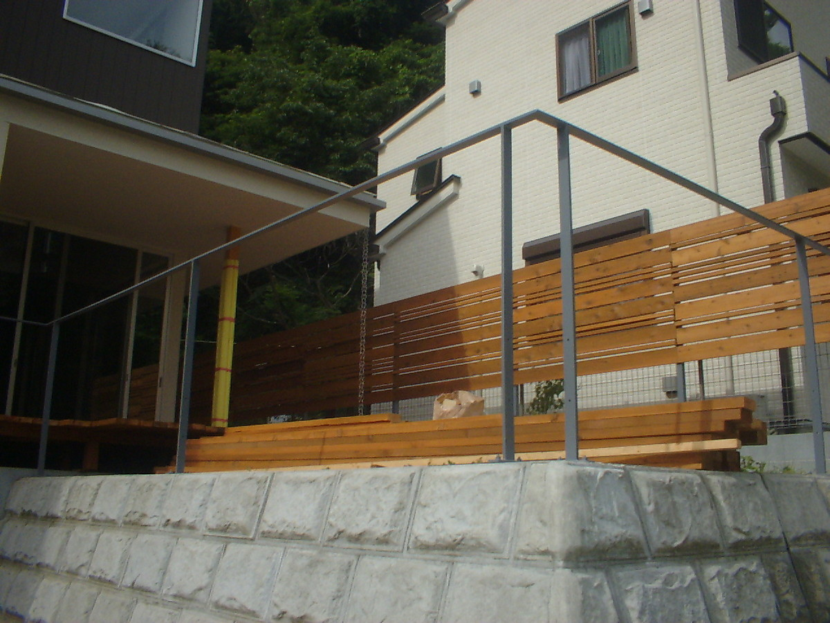 鎌倉市のウッドデッキ工事