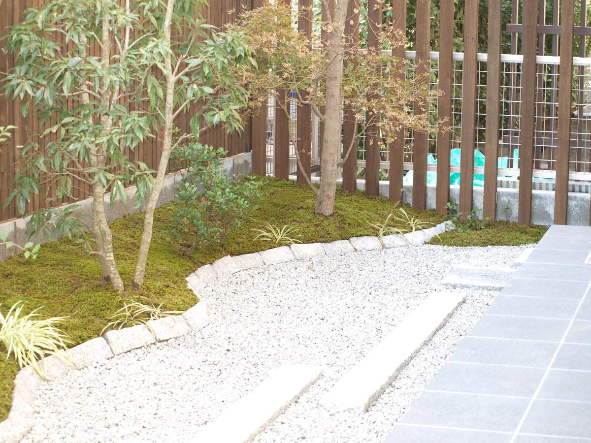 藤沢市のモダン和風庭園工事例
