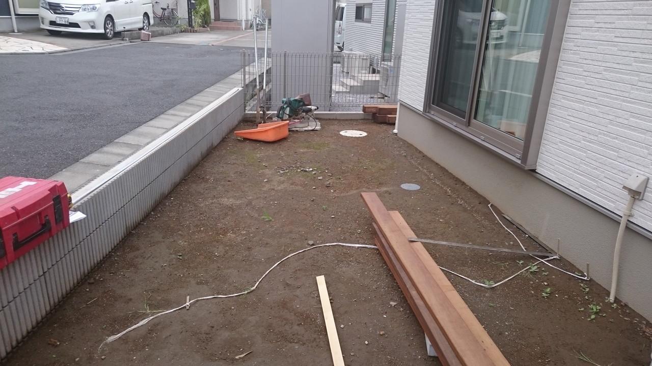 藤沢市でのウッドデッキ工事