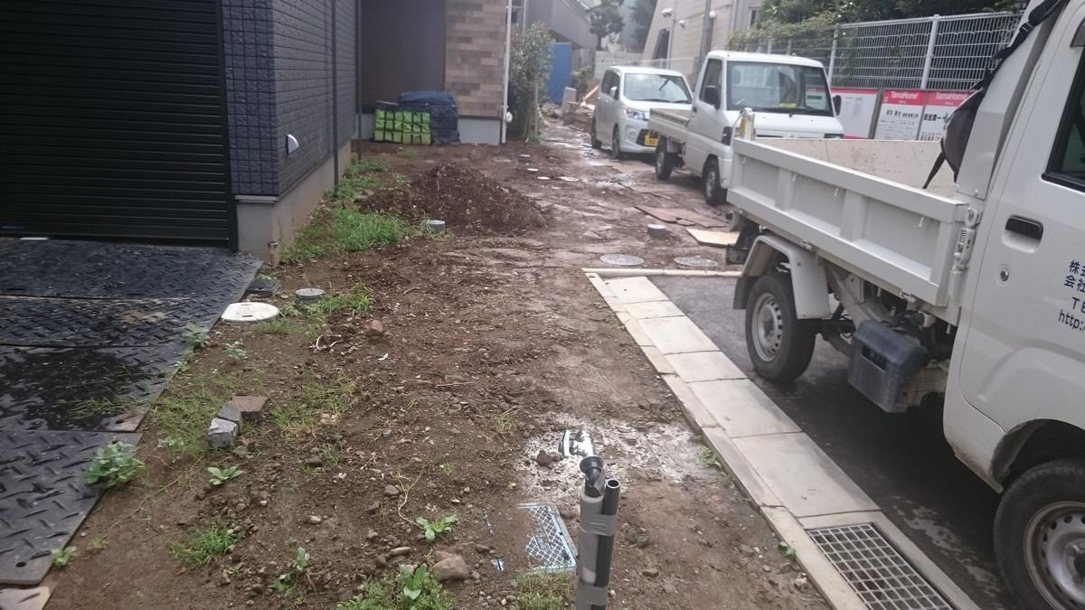 鎌倉市の外構工事施工前