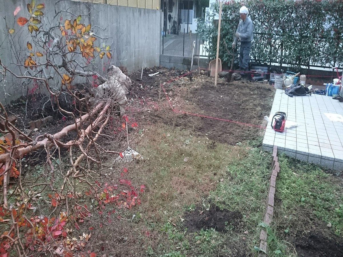 既存樹木の撤去等を行っていきます。