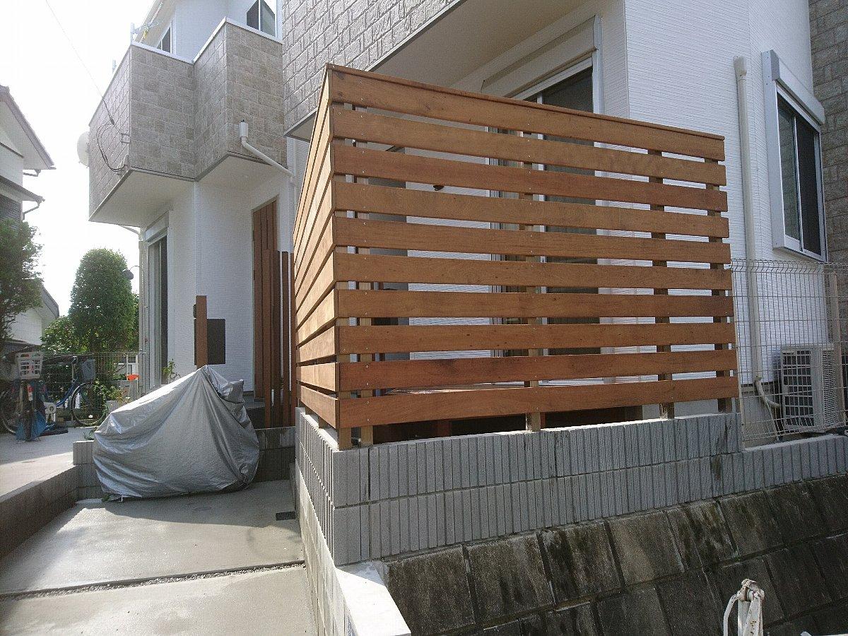 ウッドフェンス完成2