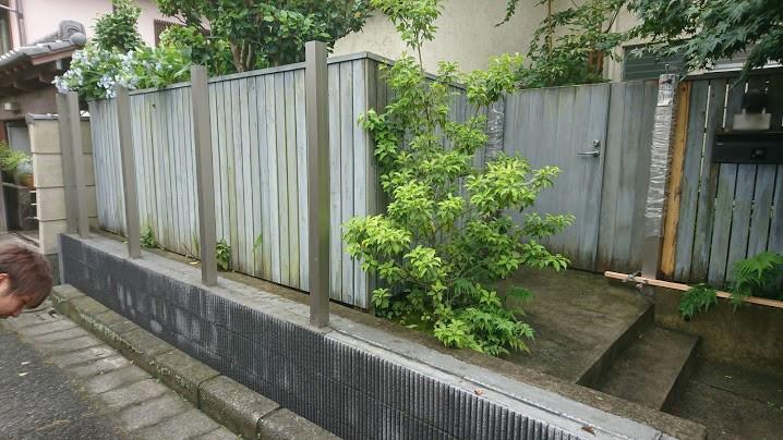 鎌倉市でのイタウバ縦スリットフェンス工事