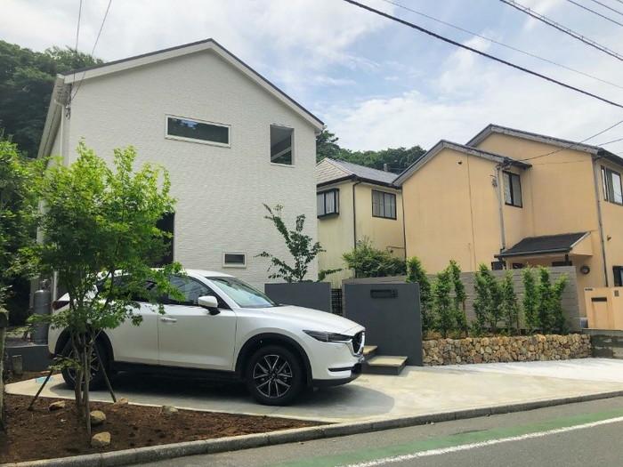 鎌倉市 自然風外構(車2台用)