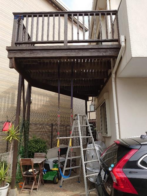 鎌倉市ウッドデッキ施工